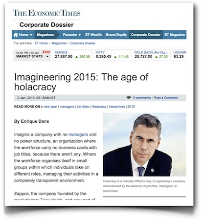 Imagineering 2015: the age of holacracy - The Economic Times of India