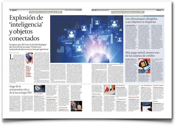 Explosión de 'inteligencia' y objetos conectados - Cinco Días (pdf)