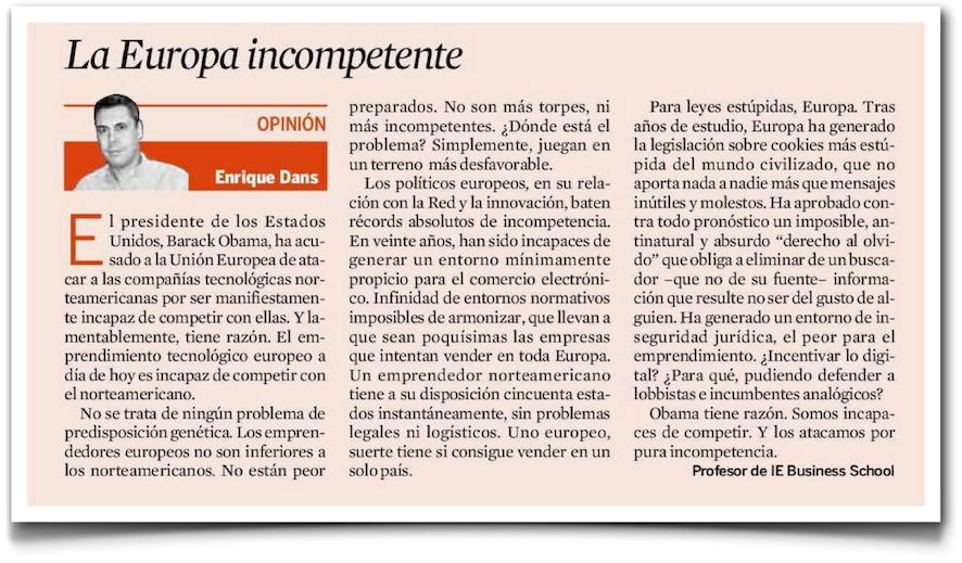 La Europa incompetente - Expansión (pdf)
