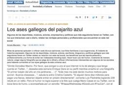 Los ases gallegos del pajarito azul - Faro de Vigo