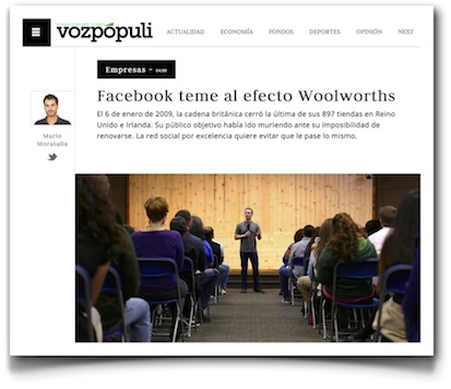 Facebook teme al efecto Woolworth - VozPópuli