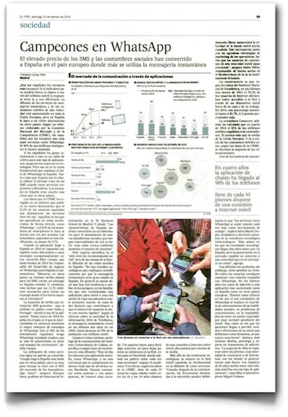 Campeones en WhatsApp - El País (pdf)