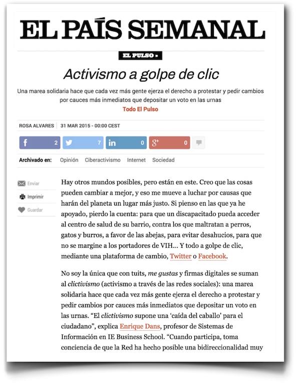 Activismo a golpe de clic - El Pais (pdf)