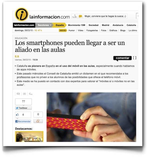Los smartphones pueden llegar a ser un aliado en las aulas - La Información