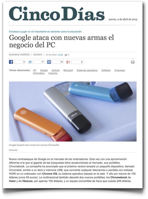 Google ataca con nuevas armas el negocio del PC - Cinco Días (pdf)