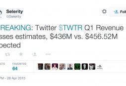 Selerity tweet