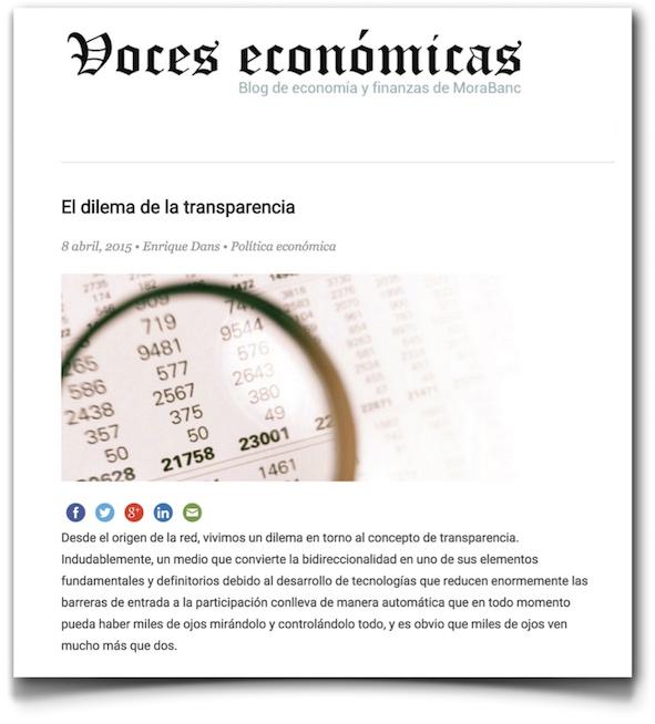 El dilema de la transparencia - Voces Económicas