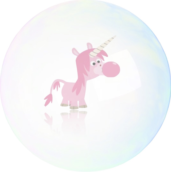 Unicorn in bubble