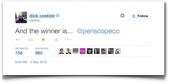 Dick Costolo (@dickc) status update #594725651854139392 - Twitter