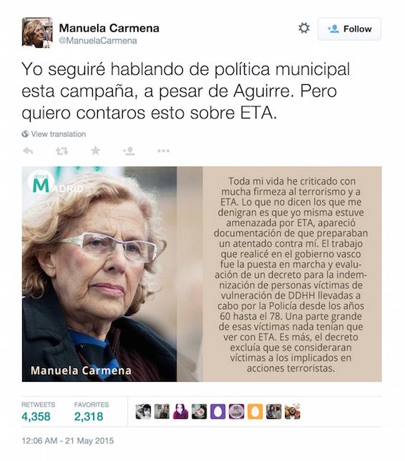 Manuela Carmena (@ManuelaCarmena) status update #601147027561537536 - Twitter