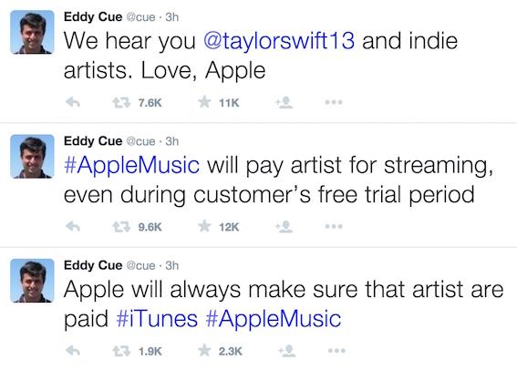Eddy Cue tweets - June 22, 2015