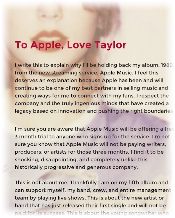 To Apple - Taylor Swift
