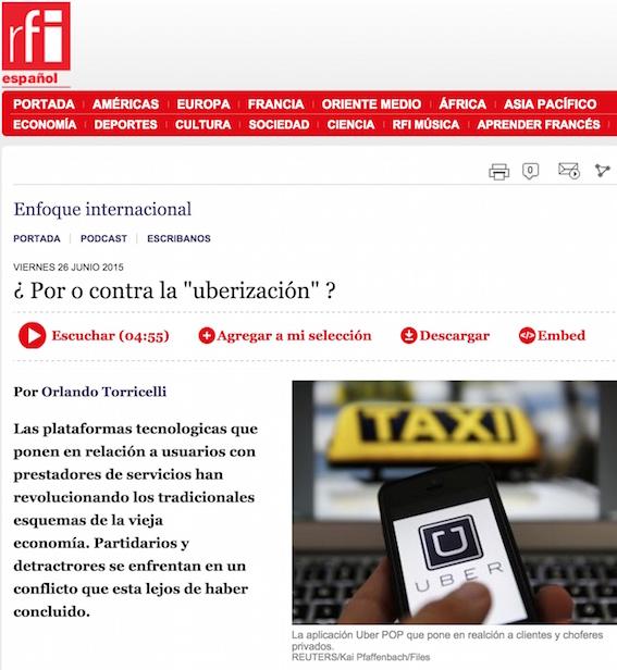 """¿Por o contra la """"uberizacion""""? - Radio Francia Internacional"""