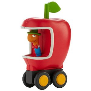 IMAGE: Lowly Worm Apple car by Richard Scarry