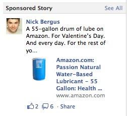 Sexual lubricant 55 gallon ad