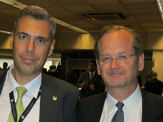 With Lawrence Lessig (Barcelona, June 2012)