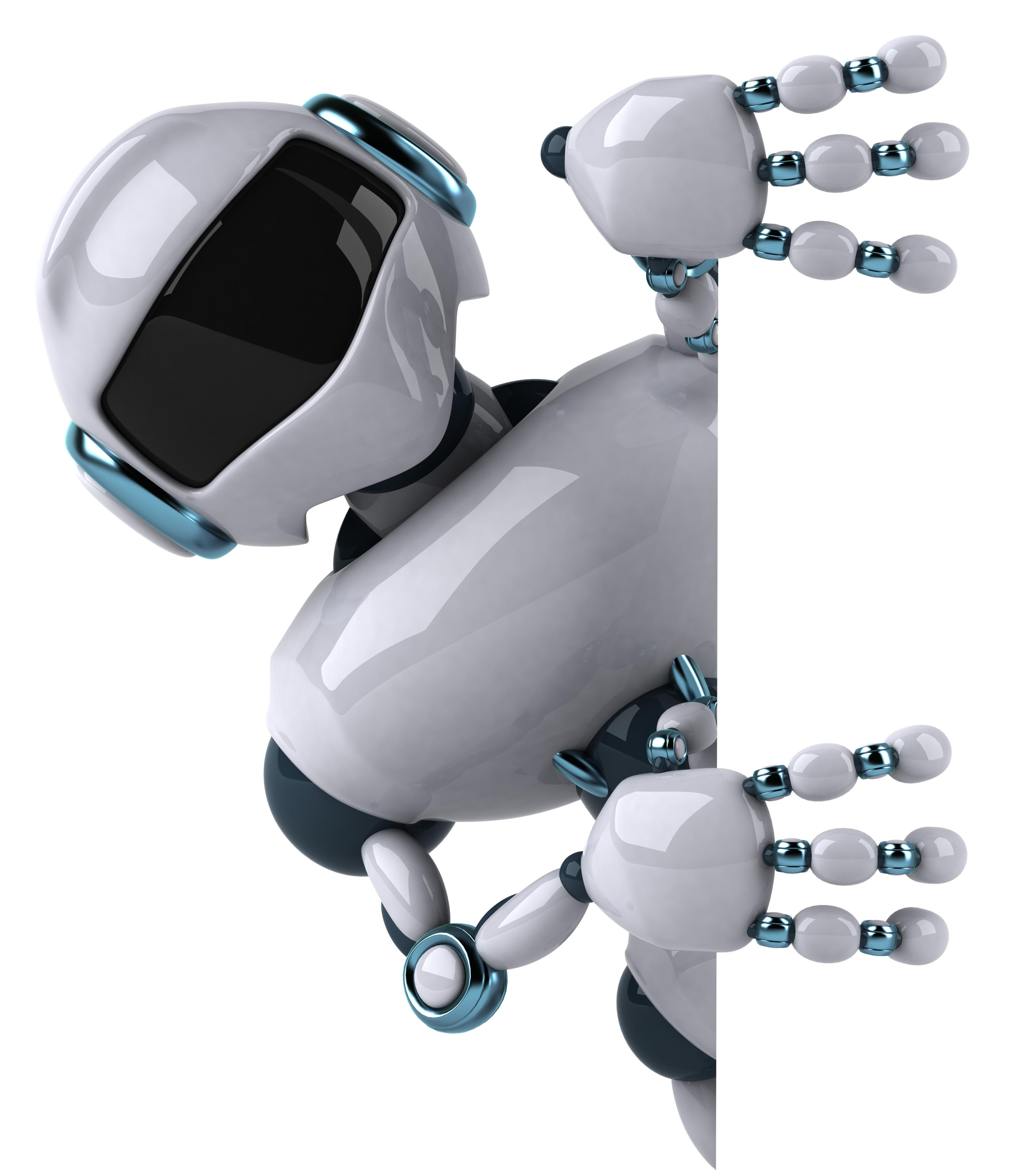 Robot asomándose