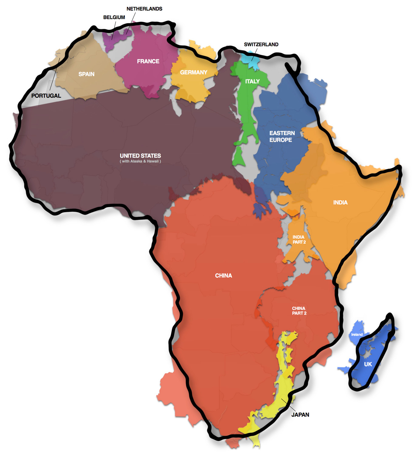 True size of Africa (IMAGE: Kai Krause)