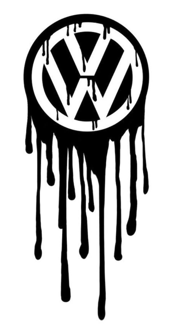 Volkswagen logo bleeding (by Greenbob1986)