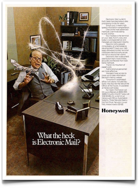 email ad (1977) - Honeywell