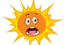 Unhappy sun