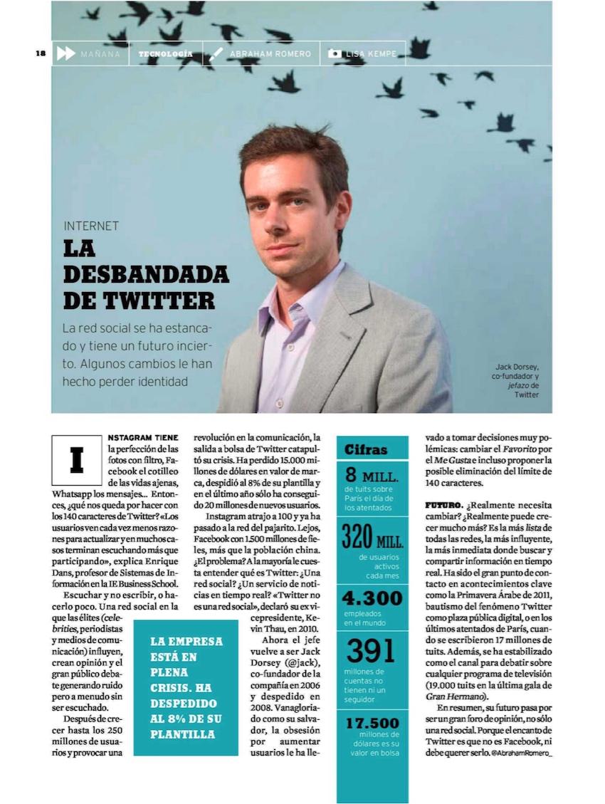 La desbandada de Twitter - Papel