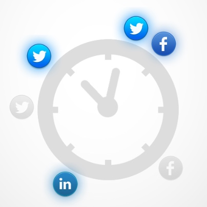 Scheduled social media
