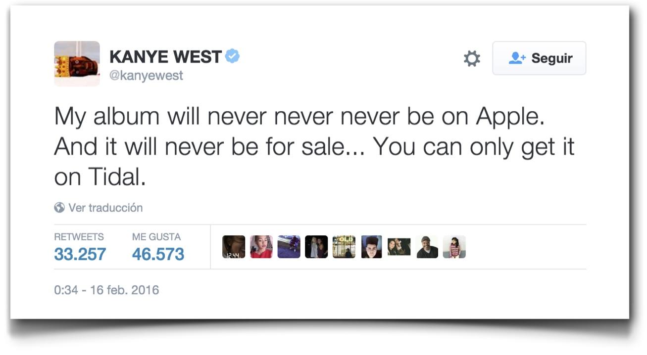 Kanye West (@kanyewest) status update #699376240709402624 - Twitter