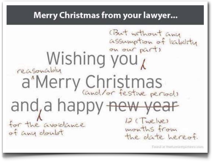 Merry Xmas from lawyer