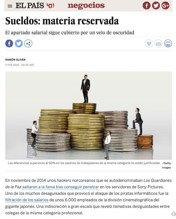 Sueldos: materia reservada - El País (pdf)