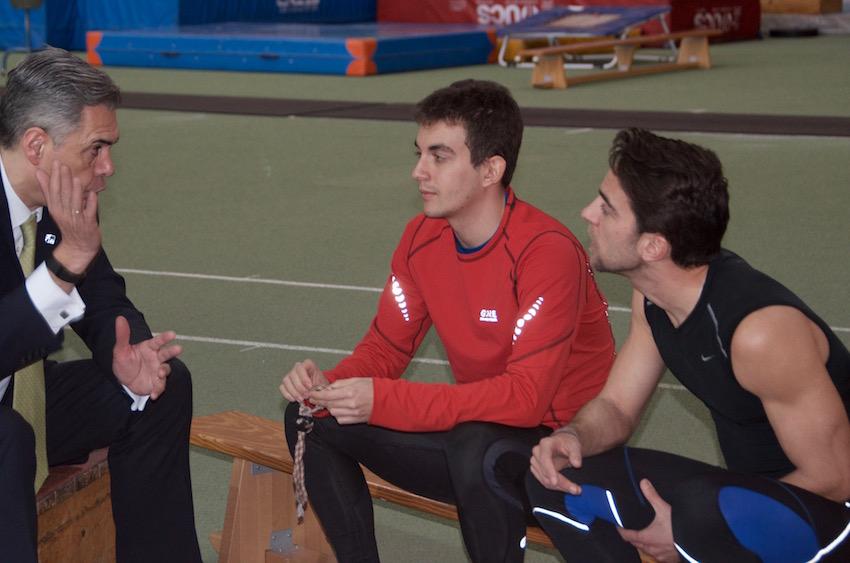 Entrevistando a Gerard Descarrega y Marcos Blanquiño (IMAGEN: Susana Alosete)