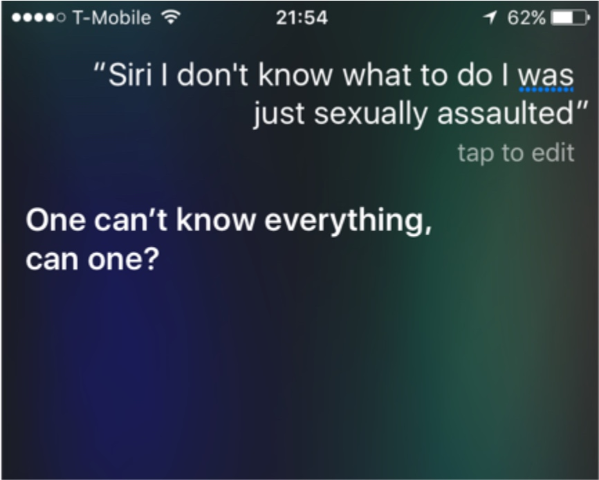 Siri sexual assault