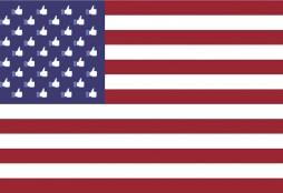 American Facebook flag