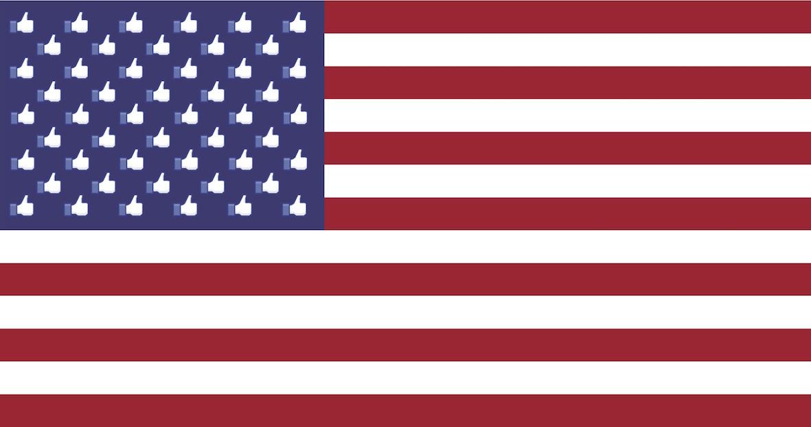American Facebook flag (IMAGE: E. Dans)