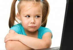 kid bored computer