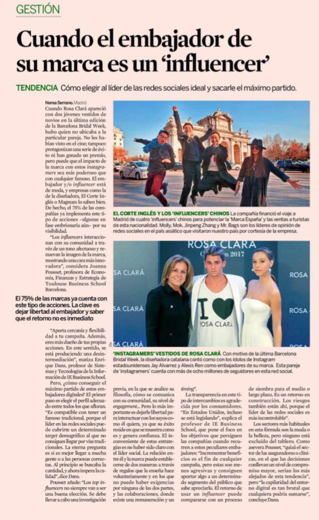 """Cuando el embajador de su marca es un """"influencer"""" - Expansión (pdf)"""