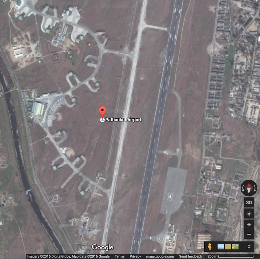 Pathankot air base (IMAGE: Google Maps)