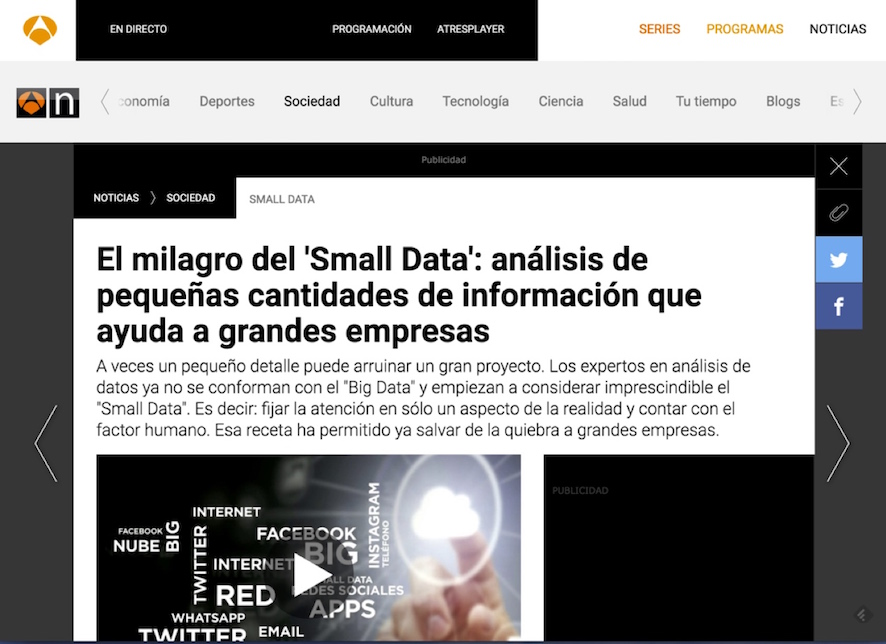 Small data - Antena 3 Noticias