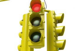 26355146 - very high resolution 3d rendering of a traffic light with e gree light on.