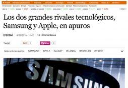 Apple y Samsung - El Economista