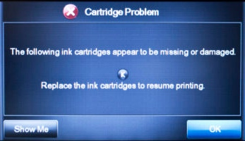 HP printer fake error message