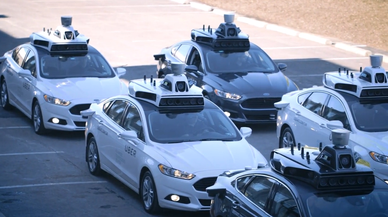 Uber self-driving cars in Pittsburgh