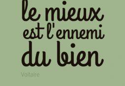 Le mieux est l'ennemi du bien - Voltaire