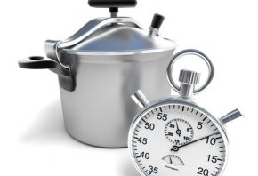 15913828 - 3d rendering of a pressure cooker with a stopwatch