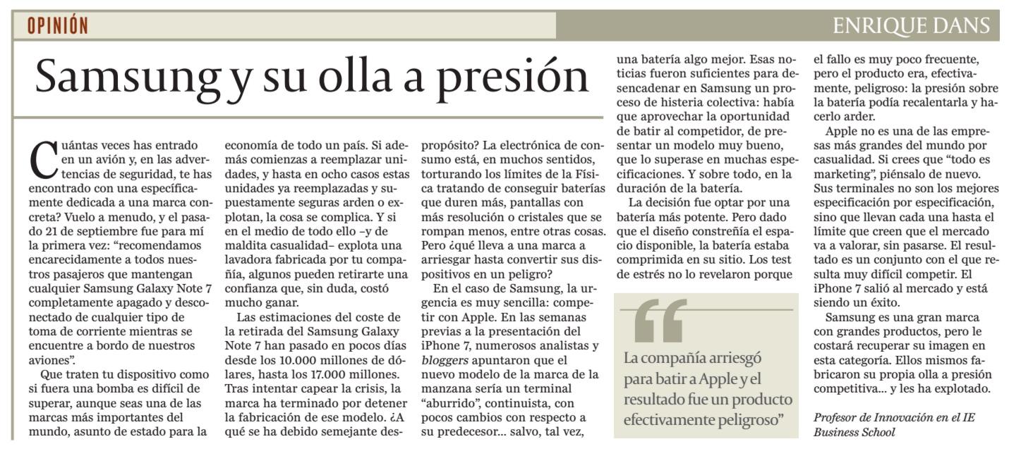 Samsung y su olla a presion - Cinco Días