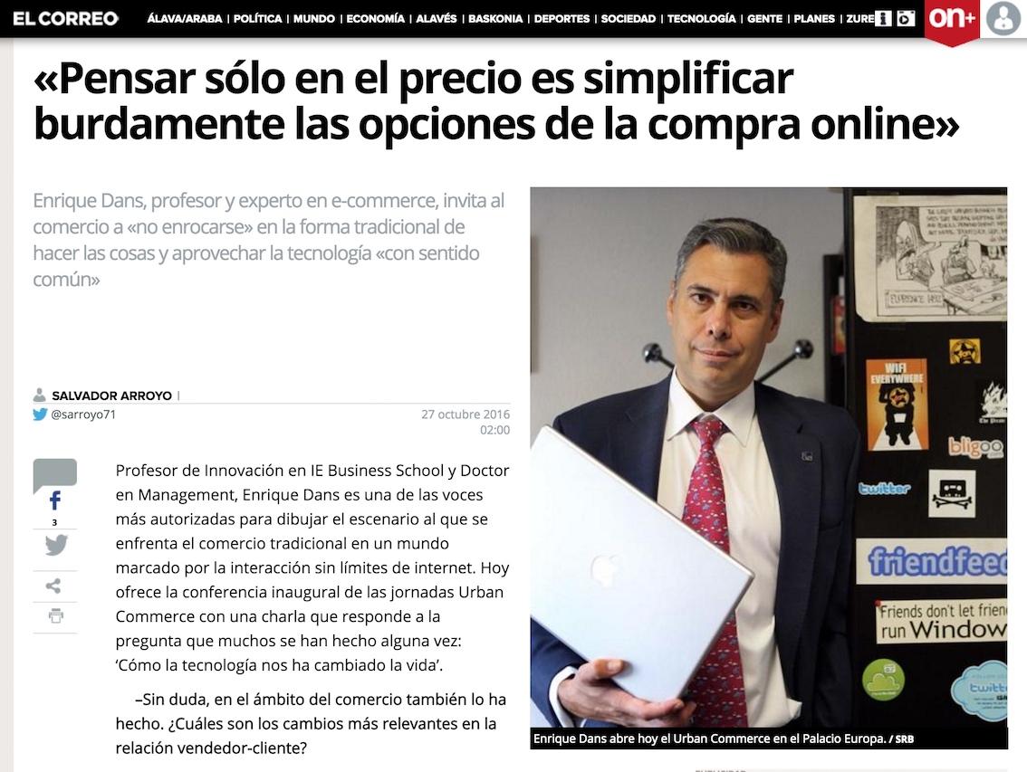 Pensar solo en el precio es simplificar burdamente las opciones de la compra online - El Correo de Álava