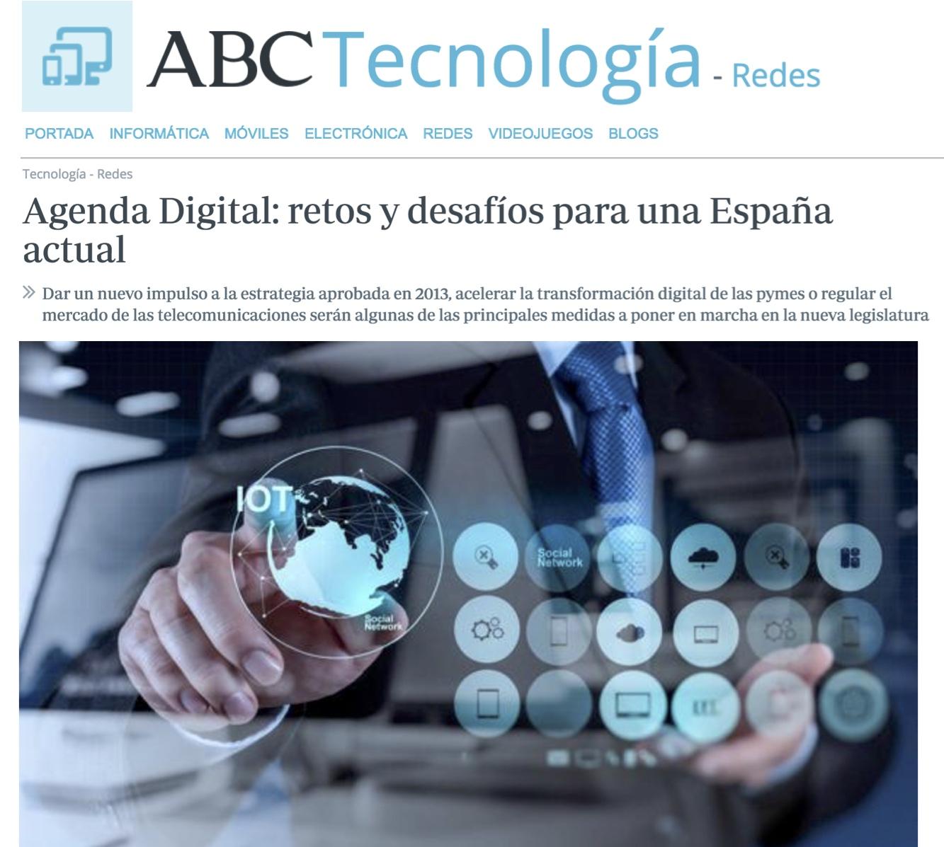 Agenda Digital: retos y desafíos para una España actual - ABC