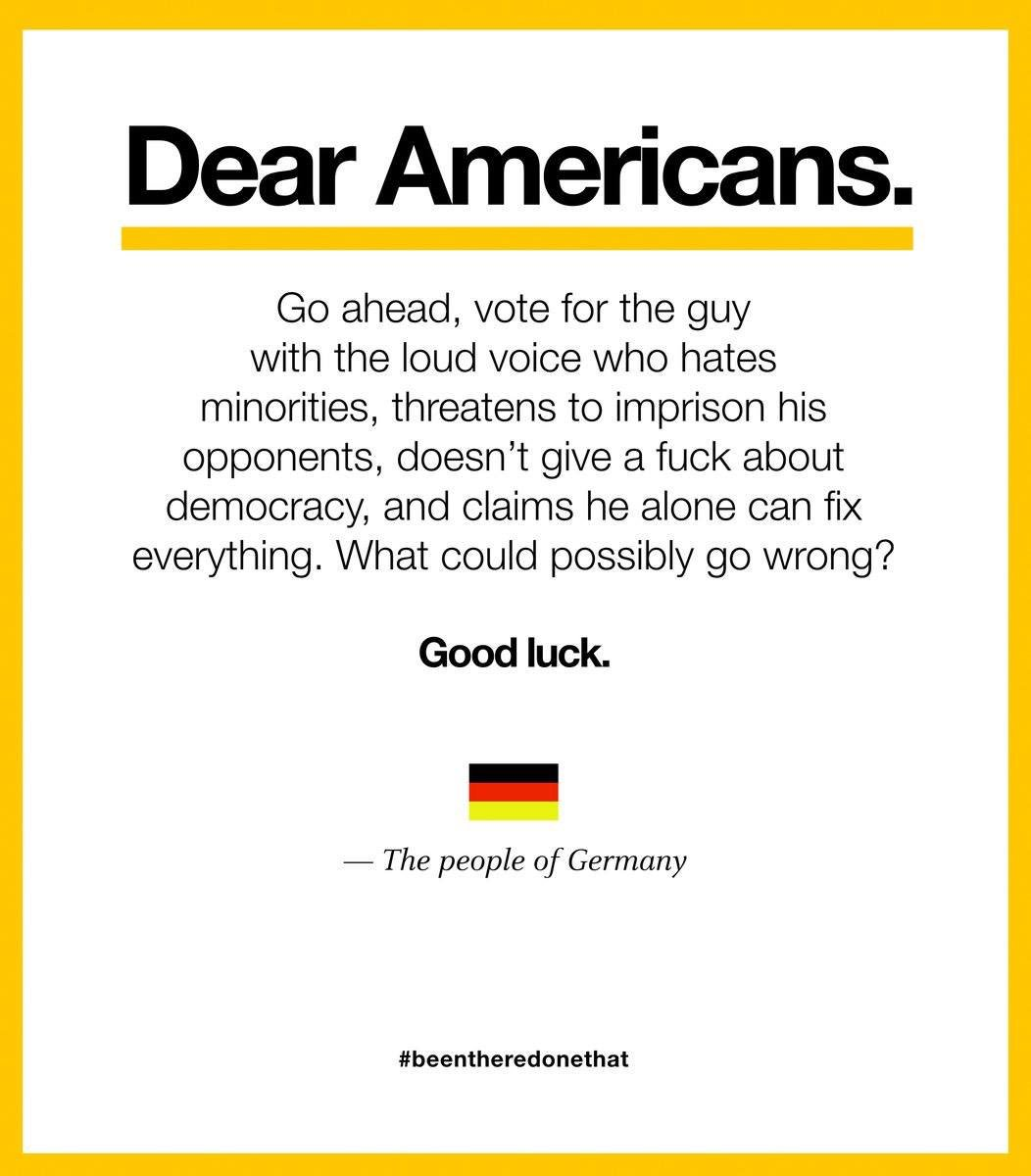 Dear Americans (anti-Trump German ad)