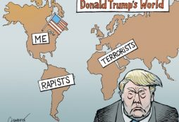 Donald Trump's world - Cartoon by Patrick Chapatte