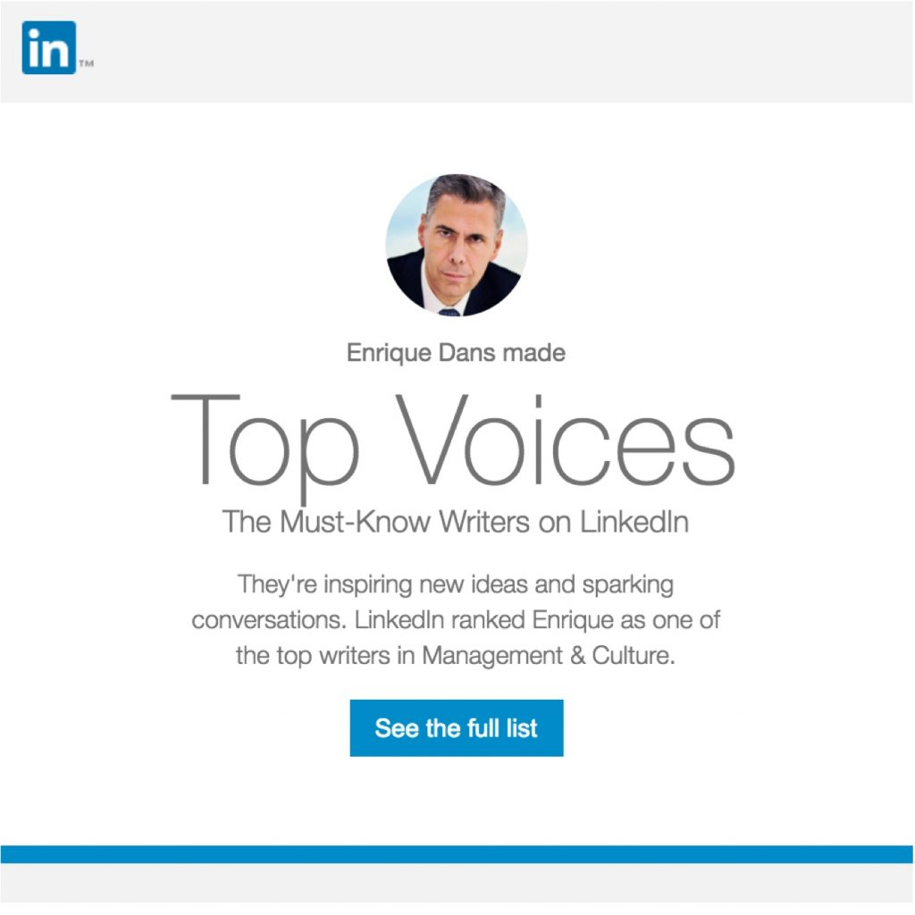 Linkedin Top Voices 2016